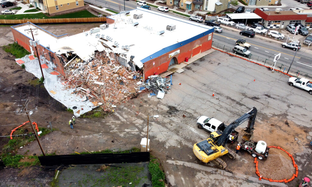Demolition work makes way for the Westwood Recreation Center to be built (eventually) on Morrison Road. May 18, 2021.