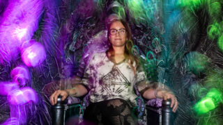 In time for Halloween, Spookadelia 4: The Curse Of Novo Ita at Spectra Art Space in Denver is an all-ages psychedelic immersive art, augmented reality and theatrical experience. Sadie Young, Spectra's chief curator and CEO, photographed in a room she created at Spookadelia 4.