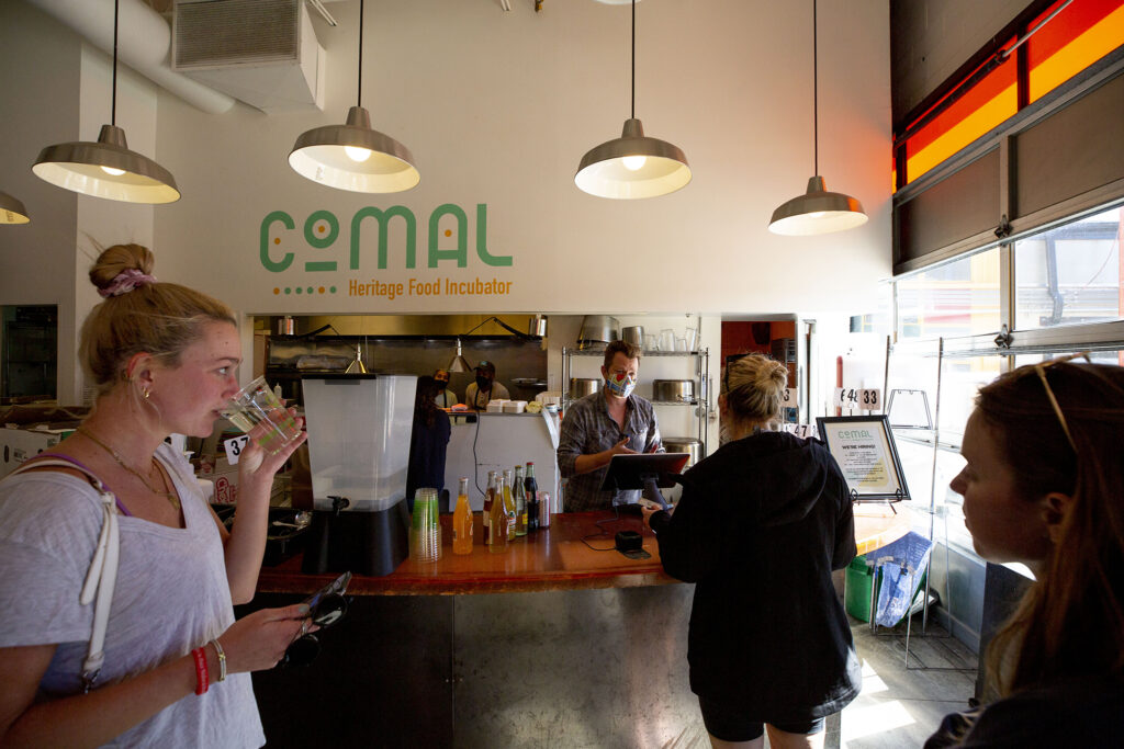 Comal Kitchen at Globeville's Taxi campus. Oct. 13, 2021.
