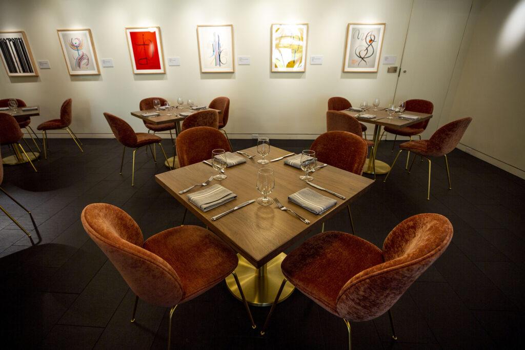 The Ponti restaurant inside the Denver Art Museum's newly opened Martin Building. Oct. 13, 2021.