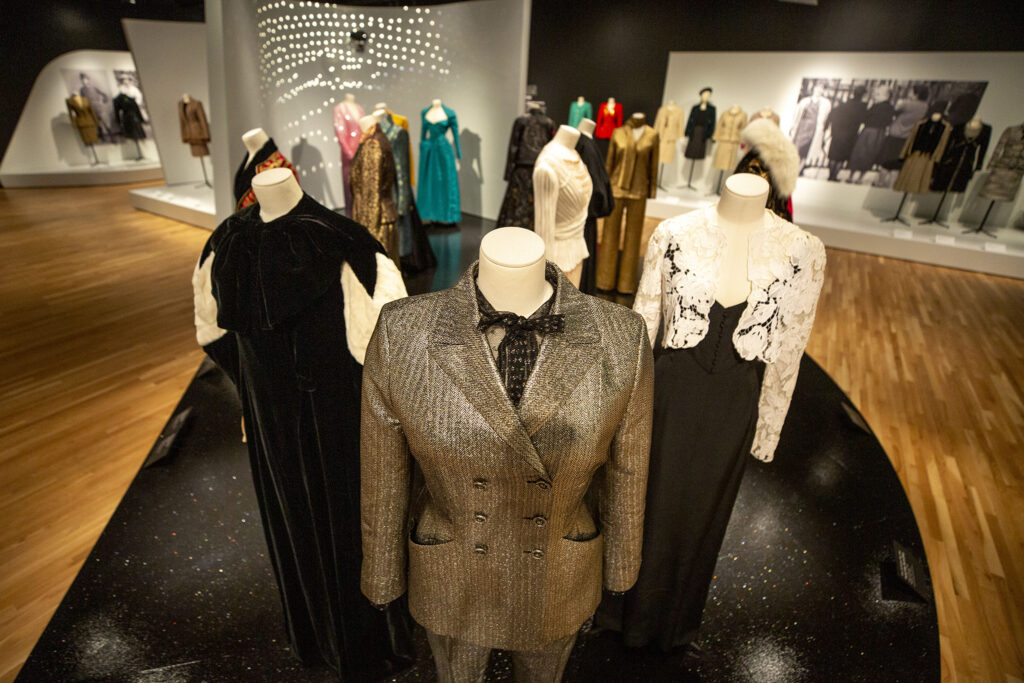 A fashion exhibit inside the Denver Art Museum's newly opened Martin Building. Oct. 13, 2021.