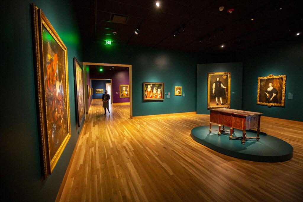 European art inside the Denver Art Museum's newly opened Martin Building. Oct. 13, 2021.