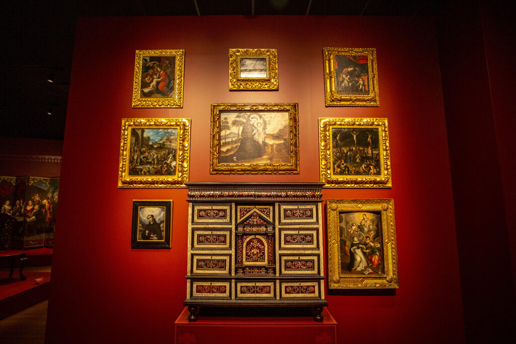 A seventeenth-century cabinet from Mexico inside the Denver Art Museum's newly opened Martin Building. Oct. 13, 2021.