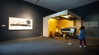 """Jason Moran's """"Bathing The Room With Blues"""" at the Museum of Contemporary Art Denver. Oct. 19, 2021."""