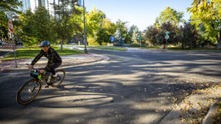 The stretch of Marion Parkway where Alexis Bounds was fatally hit by a driver was recently repaved. Oct. 21, 2021.